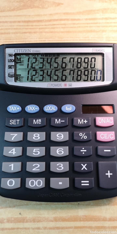 Antigüedades: Calculadora solar Citizen EX860 a estrenar - Foto 2 - 197412216