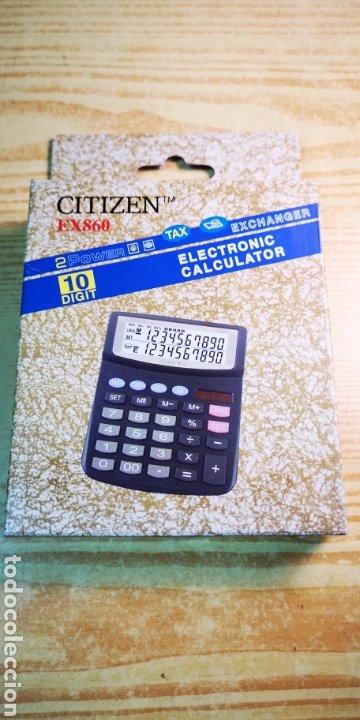 Antigüedades: Calculadora solar Citizen EX860 a estrenar - Foto 4 - 197412216