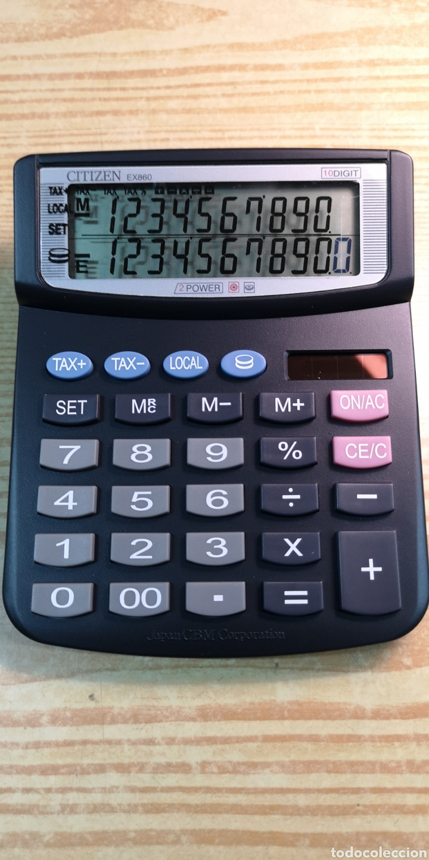 CALCULADORA SOLAR CITIZEN EX860 A ESTRENAR (Antigüedades - Técnicas - Aparatos de Cálculo - Calculadoras Antiguas)