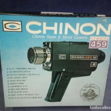 Antigüedades: FILMADORA SUPER 8 CHINON 459 POWER ZOOM. MADE IN JAPAN. Lote 197453385