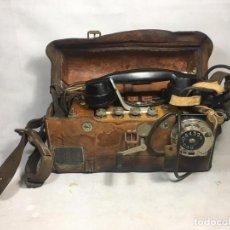 Teléfonos: TELÉFONO DE CAMPAÑA FELTELEFON M/51L DE ERICSSON DE 1951 PARA LA DANISH TLF COMPANY EJEMPLAR 144 - L. Lote 197459711