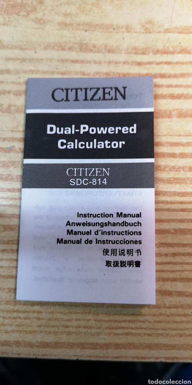 Antigüedades: Calculadora solar Citizen SDC-814 a estrenar - Foto 3 - 197552220