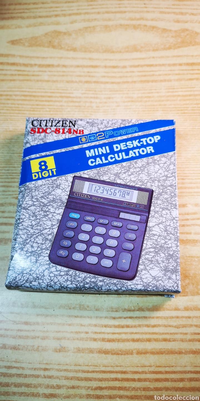 Antigüedades: Calculadora solar Citizen SDC-814 a estrenar - Foto 4 - 197552220