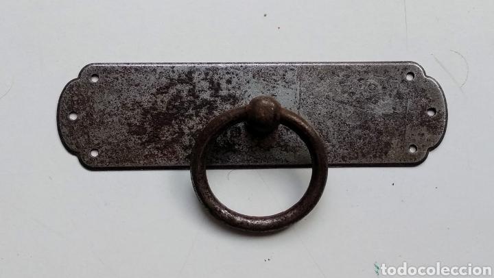 PLACA TIRADOR ANTIGUO (Antigüedades - Técnicas - Cerrajería y Forja - Tiradores Antiguos)