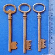 Antigüedades: LOTE DE 3 ANTIGUAS LLAVES. Lote 197656878