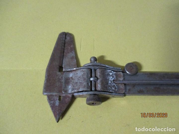 Antigüedades: antiguo calibrador calibre o pie de rey - Foto 2 - 197681946