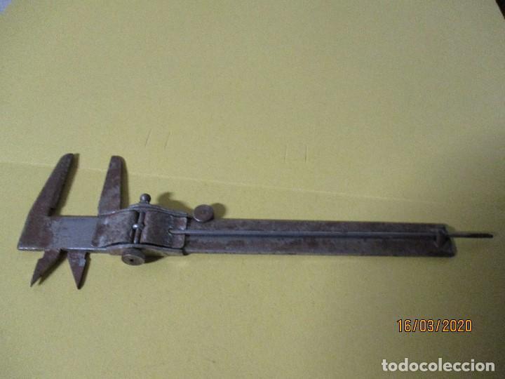 Antigüedades: antiguo calibrador calibre o pie de rey - Foto 5 - 197681946