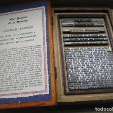 Antigüedades: IMPRENTA MOLDE EL QUIJOTE - EDICIÓN LIMITADA 55 PIEZAS -. Lote 262953760