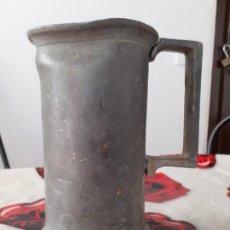 Antigüedades: MEDIDA 1 LITRO ESTAÑO MACIZO. Lote 197809707