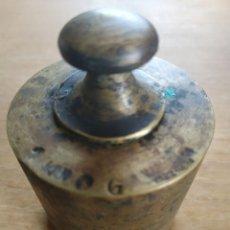 Antigüedades: PESA DE BRONCE DE 1KG. VALENCIA. Lote 197907741
