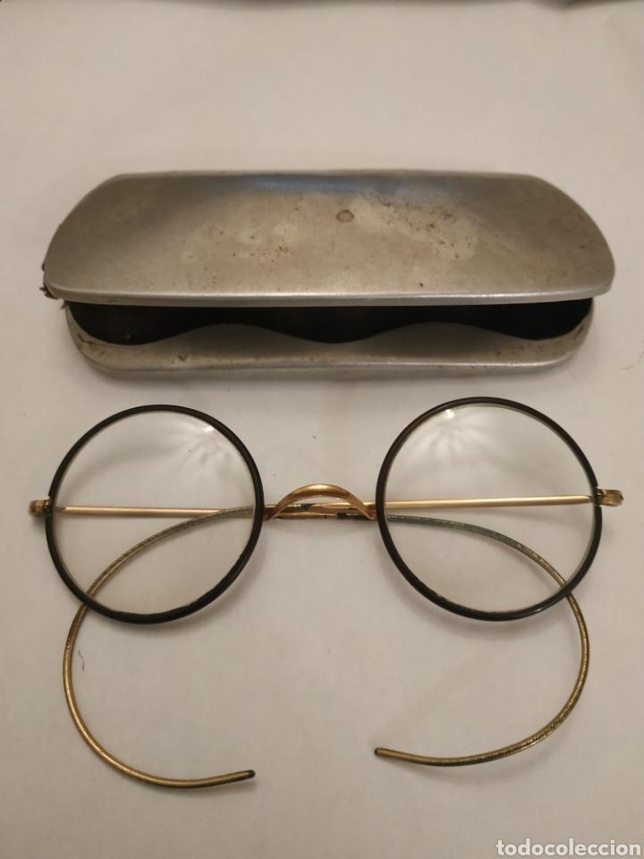 GAFAS GRADUADAS CON FUNDA ORIGINAL (Antigüedades - Técnicas - Instrumentos Ópticos - Gafas Antiguas)