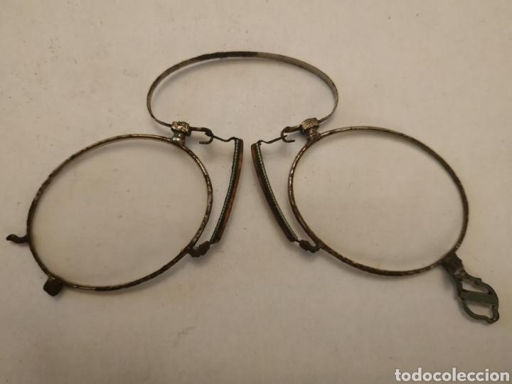 Antigüedades: Gafas graduadas tipo Quevedo con funda original - Foto 2 - 197944948