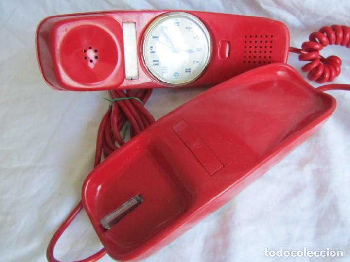 Teléfonos: Teléfono gondola rojo con reloj (funcionando) - Foto 8 - 198044857