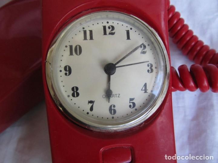 Teléfonos: Teléfono gondola rojo con reloj (funcionando) - Foto 9 - 198044857