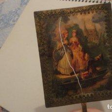 Antigüedades: ANTIGUA IMAGEN PARA LINTERNA MAGICA? ESCENA ROMANTICA.SIGLO XIX?. Lote 198050412