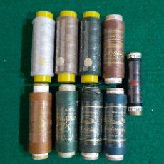 Antigüedades: LOTE DE BOBINAS DE HILO DE COSER DIFERENTES MARCAS. Lote 198059703