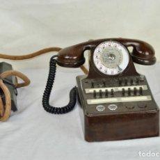 Teléfonos: TELÉFONO CENTRALITA FRANCÉS EN BAQUELITA MARRÓN. Lote 103378259