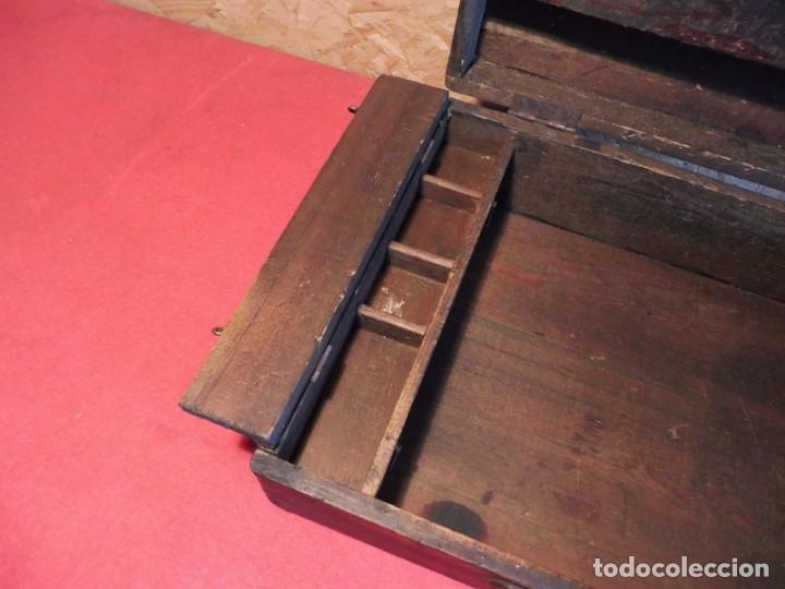 Antigüedades: CAJA CON LETRAS DE IMPRENTA DE MADERA DE FINALES XIX - PRINCIPIOS XX - Foto 27 - 198085600