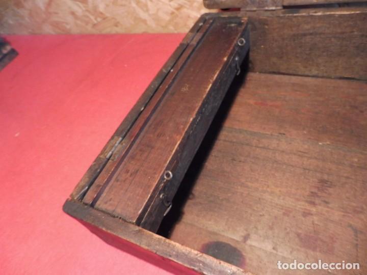 Antigüedades: CAJA CON LETRAS DE IMPRENTA DE MADERA DE FINALES XIX - PRINCIPIOS XX - Foto 29 - 198085600