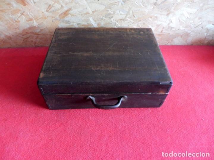 Antigüedades: CAJA CON LETRAS DE IMPRENTA DE MADERA DE FINALES XIX - PRINCIPIOS XX - Foto 30 - 198085600