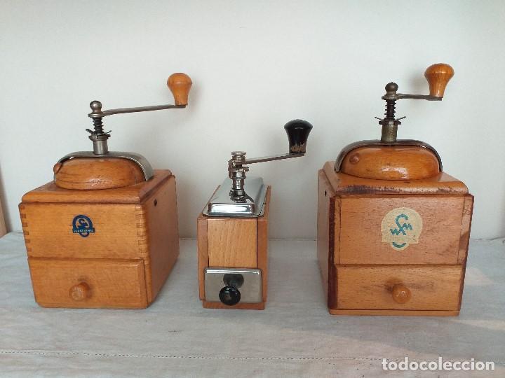 3 MOLINO MOLINILLO DE CAFE FIRMA ALEMANA KLINGENTHAL. CA.1950/60 (Antigüedades - Técnicas - Molinillos de Café Antiguos)