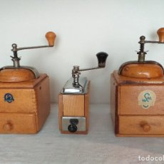 Antigüedades: 3 MOLINO MOLINILLO DE CAFE FIRMA ALEMANA KLINGENTHAL. CA.1950/60. Lote 198120176