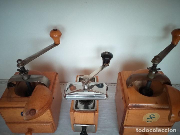 Antigüedades: 3 Molino molinillo de cafe firma Alemana Klingenthal. ca.1950/60 - Foto 5 - 198120176