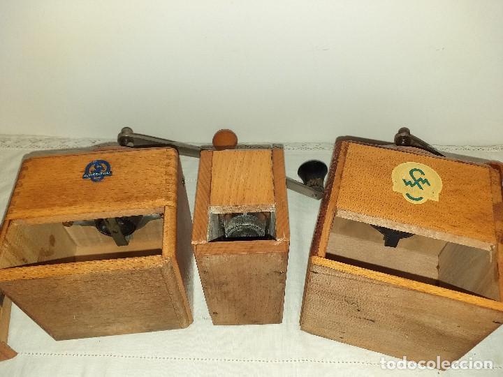 Antigüedades: 3 Molino molinillo de cafe firma Alemana Klingenthal. ca.1950/60 - Foto 8 - 198120176