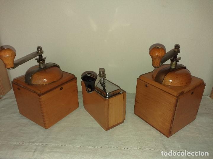 Antigüedades: 3 Molino molinillo de cafe firma Alemana Klingenthal. ca.1950/60 - Foto 10 - 198120176