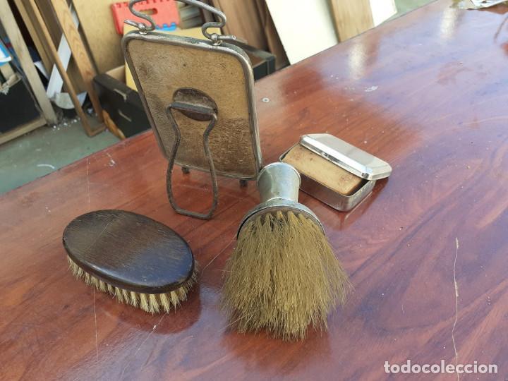 Antigüedades: lote de piezas de barberia - Foto 2 - 198181856