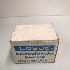Antigüedades: AUTO TRASFORMADOR REVERSIBLE LOYJE NUEVO. Lote 198195991
