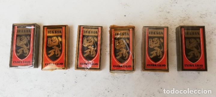 LOTE DE 6 PAQUETES DE 10 HOJAS DE AFEITAR IBERIA. SIN ABRIR (Antigüedades - Técnicas - Barbería - Hojas de Afeitar Antiguas)