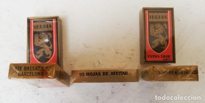 Antigüedades: Lote de 6 paquetes de 10 hojas de afeitar Iberia. Sin abrir - Foto 2 - 198207526