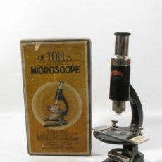 Antiguidades: MICROSCOPIO OCTOPUS AÑOS 40 . CAJA ORIGINAL. Lote 198218017