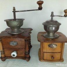 Antigüedades: 2 MOLINO MOLINILLO DE CAFE CENTENARIOS DE LA FIRMA ALEMANA ZASSENHAUS (RZ ROBERT ZASSENHAUS).. Lote 198337401