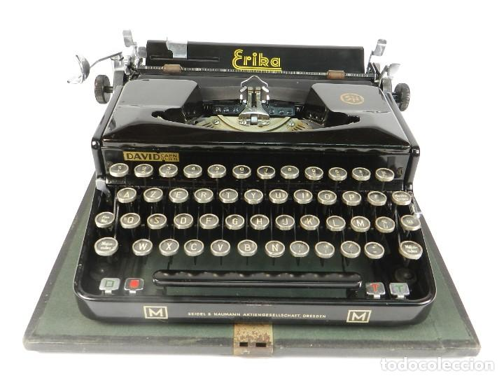 Antigüedades: MAQUINA DE ESCRIBIR ERIKA Mod.M AÑO 1935 TYPEWRITER SCHREIBMASCHINE - Foto 4 - 198353987
