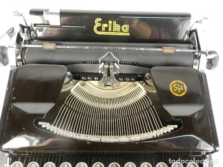 Antigüedades: MAQUINA DE ESCRIBIR ERIKA Mod.M AÑO 1935 TYPEWRITER SCHREIBMASCHINE - Foto 5 - 198353987