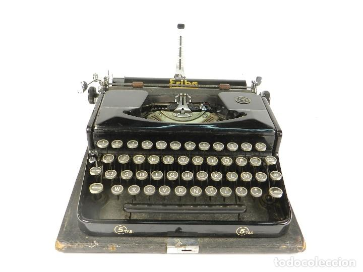 Antigüedades: MAQUINA DE ESCRIBIR ERIKA Nº5 AÑO 1940 TYPEWRITER SCHREIBMASCHINE - Foto 2 - 198356658