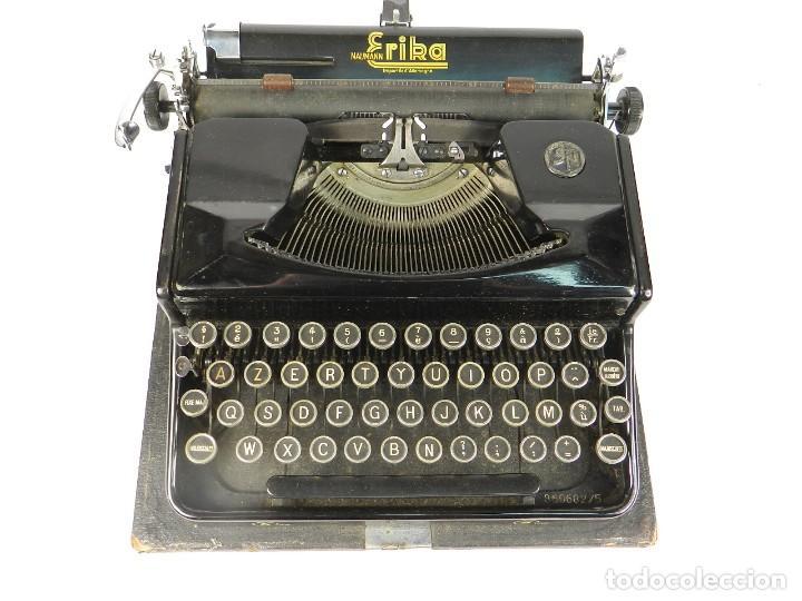 Antigüedades: MAQUINA DE ESCRIBIR ERIKA Nº5 AÑO 1940 TYPEWRITER SCHREIBMASCHINE - Foto 3 - 198356658