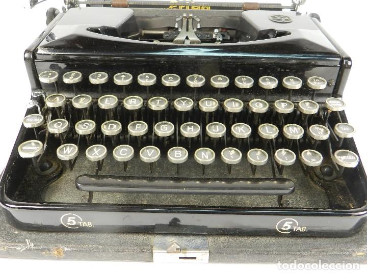Antigüedades: MAQUINA DE ESCRIBIR ERIKA Nº5 AÑO 1940 TYPEWRITER SCHREIBMASCHINE - Foto 4 - 198356658