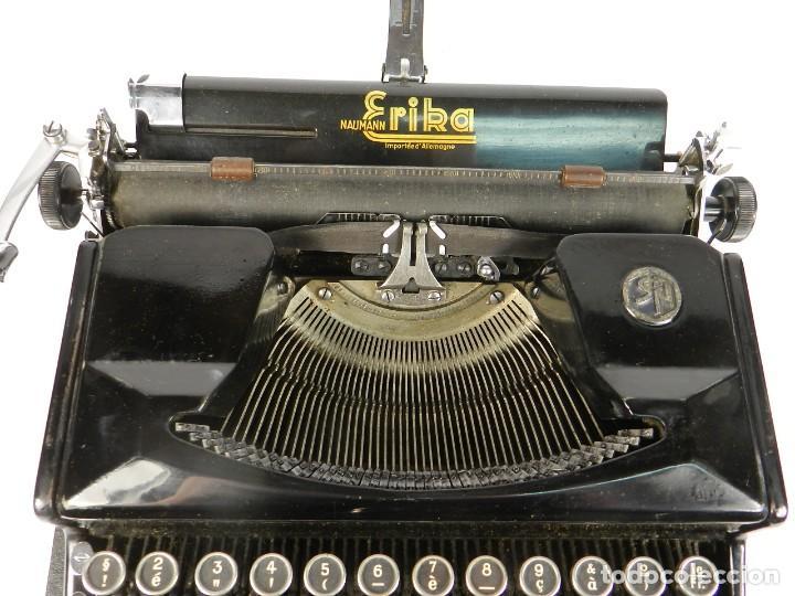 Antigüedades: MAQUINA DE ESCRIBIR ERIKA Nº5 AÑO 1940 TYPEWRITER SCHREIBMASCHINE - Foto 6 - 198356658