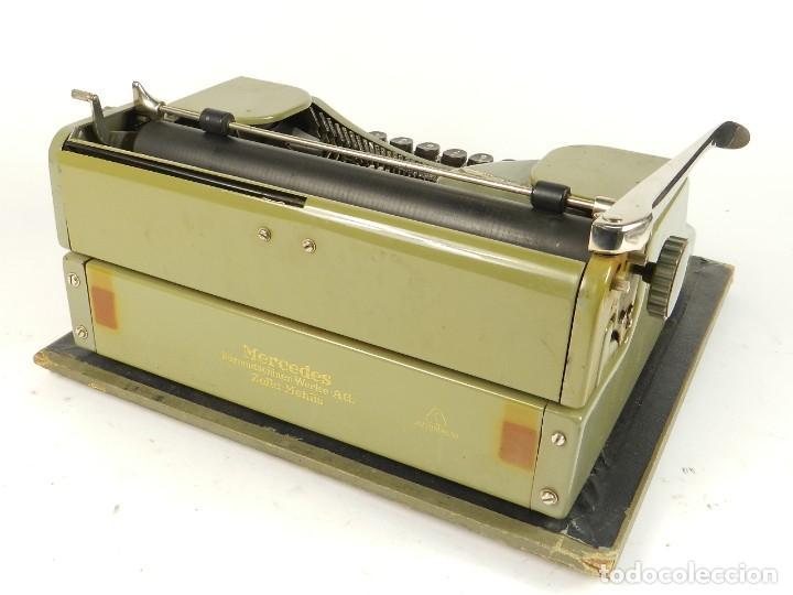 Antigüedades: MAQUINA DE ESCRIBIR MERCEDES K45 AÑO 1950 TYPEWRITER SCHREIBMASCHINE A ECRIRE - Foto 4 - 198365803
