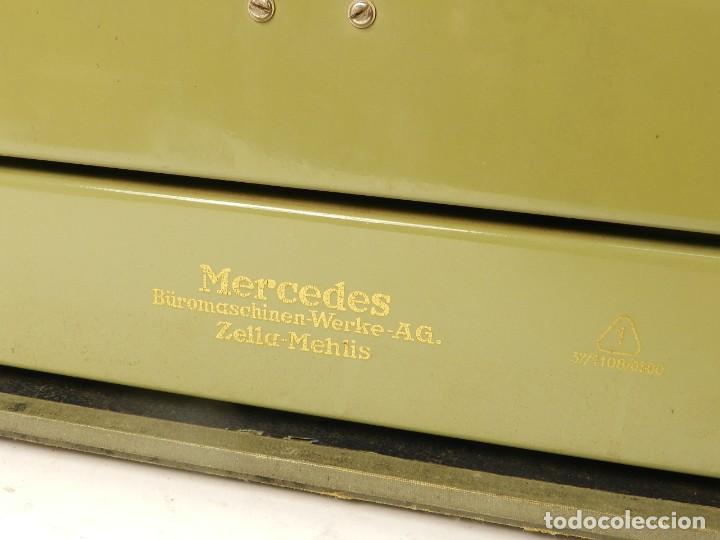 Antigüedades: MAQUINA DE ESCRIBIR MERCEDES K45 AÑO 1950 TYPEWRITER SCHREIBMASCHINE A ECRIRE - Foto 5 - 198365803