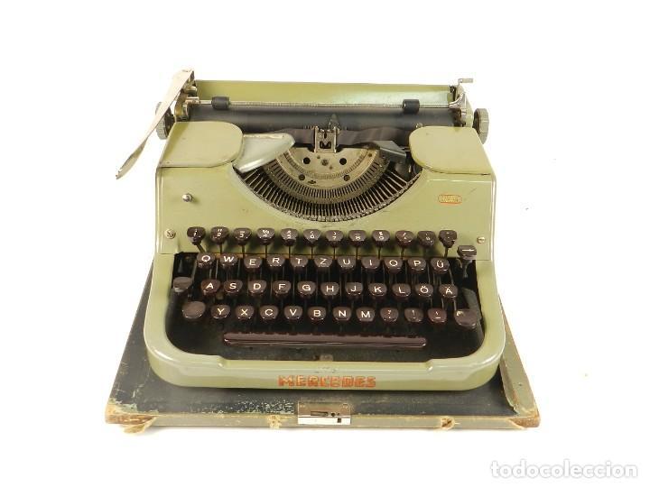 Antigüedades: MAQUINA DE ESCRIBIR MERCEDES K45 AÑO 1950 TYPEWRITER SCHREIBMASCHINE A ECRIRE - Foto 6 - 198365803
