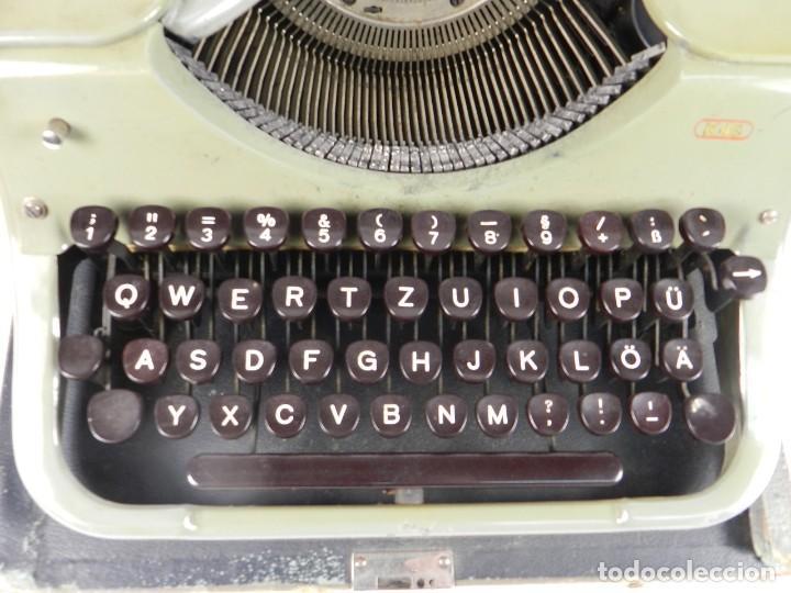 Antigüedades: MAQUINA DE ESCRIBIR MERCEDES K45 AÑO 1950 TYPEWRITER SCHREIBMASCHINE A ECRIRE - Foto 7 - 198365803