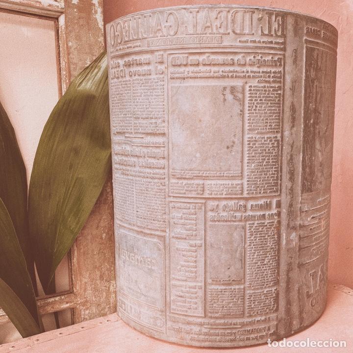 Antigüedades: Enorme Placa Industrial de Imprenta de periódico - Foto 3 - 181552761