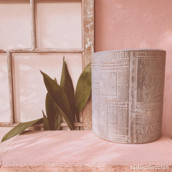 Antigüedades: Enorme Placa Industrial de Imprenta de periódico - Foto 4 - 181552761