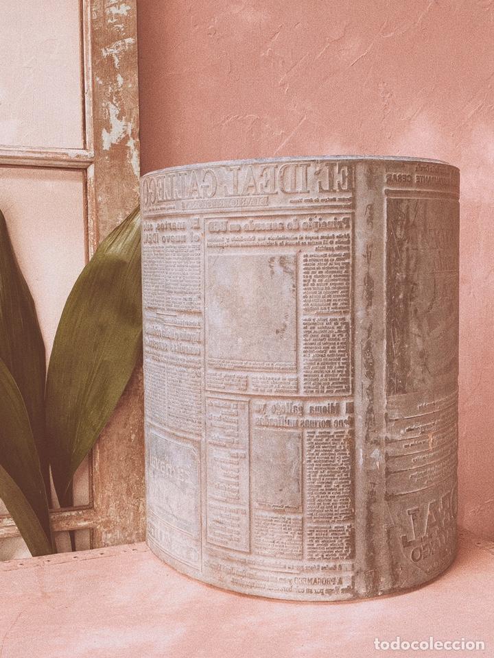 Antigüedades: Enorme Placa Industrial de Imprenta de periódico - Foto 6 - 181552761