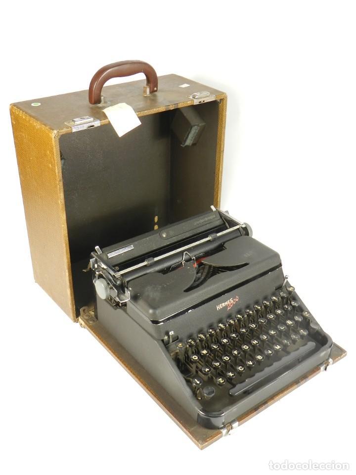 MAQUINA DE ESCRIBIR HERMES 2000 DE 1946 TECLADO ESPAÑOL TYPEWRITER SCHREIBMASCHINE MACHINE ECRIRE (Antigüedades - Técnicas - Máquinas de Escribir Antiguas - Hermes)