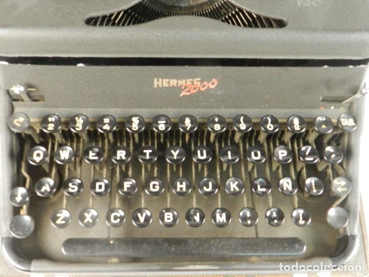 Antigüedades: MAQUINA DE ESCRIBIR HERMES 2000 DE 1946 TECLADO ESPAÑOL TYPEWRITER SCHREIBMASCHINE MACHINE ECRIRE - Foto 5 - 198398560